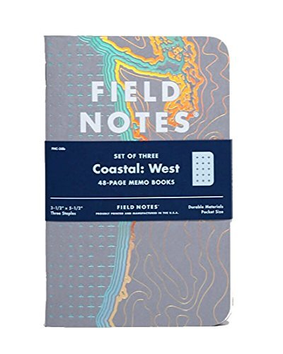 Field Notes Coastal: West Special Edition Recital Grid Memo Books, 3-Pack 3.5x5.