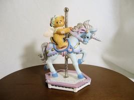 Cherished Teddies Crystal Beary Go Round Carousel 1999 NIB - $35.59