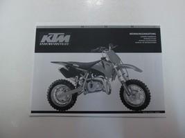 2002 KTM 50 Mini Junior Senior Adventure Owners Handbook  LOOSE LEAF *** - $16.82