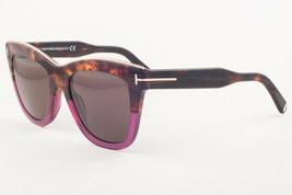 Tom Ford Julie Transparent Havana / Brown Sunglasses TF685 56E 52mm - $195.02