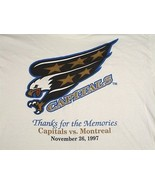Washington Capitals White T Shirt SGA Last Game at Captial Center Eagle ... - $44.98