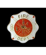Fire Department Lapel Pin Tac Fireman Maltese C... - $4.97