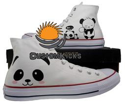Painted converse sneakers, Panda, Panda shoes, Bear shoes, Handpainted s... - $59.00+