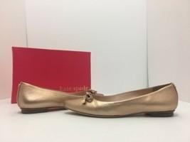 Kate Spade Emma Women's Pointed Toe Slip On Flats Rose Gold Metallic Lea... - $113.93