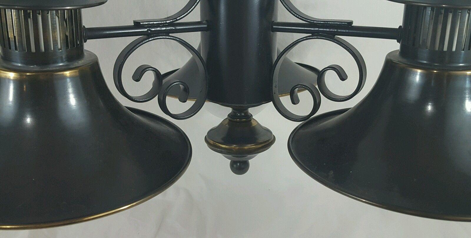 Feldman Mid Century Modern Brass Chandelier Hanging Light
