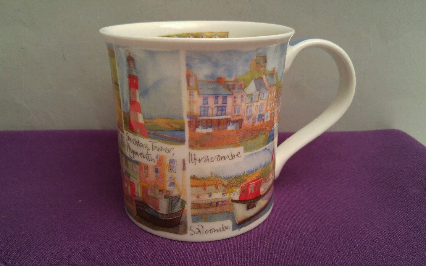 Dunoon Fine Bone China Devon Cream Teas Coffee Tea Cup Mug Made in England