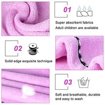 2 Pack Hair Towel Wrap Turban Microfiber Drying Bath Shower Head Towel with Butt image 5