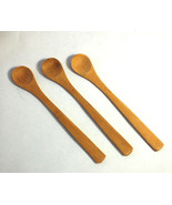"""PURELY NATURAL Wooden Spoons 7.5"""" Brown Sturdy Long Handle Wooden Lot of 34 - $29.95"""