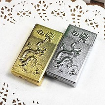 Embossed Dragon Windproof Gas Torch Lighter - One Lighter with Random Design ...