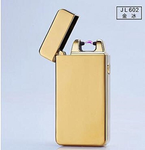 Electric Arc Windproof Rechargeable Flameless No Gas Metal Pulse USB Lighters...