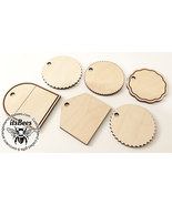 "6 Pack of 2"" Blank Wood Tags - Laser Cut - Pet, Wedding, Guest, Favors, ... - $5.00"