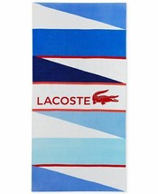 Lacoste Xl Spa Pool Wind Beach Towel Croc Cotton 36 X 72 Nwt Free Shipping - $39.59