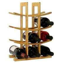 Oceanstar 12-Bottle Natural Bamboo Wine Rack  - $58.78