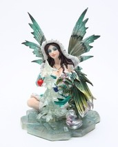 TABLE FAIRY WITH GREEN DRAGON STATUE FAIRYLAND LEGENDS - $26.96