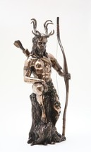 HERNE WITH ARCHER STATUE HOME DECOR BRONZE FINISH - $45.40