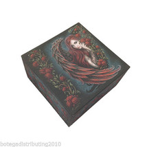 Daemon In Rosa Box With Mirror Trinket Box Anne Stokes Collection Red Ro... - $13.85