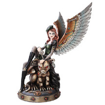 Large Steampunk Fairy Collection Mechanical Wings Flight Figurine Beast ... - $75.99