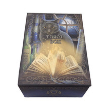 Bewitched Spellbound Book Chant Black Mystical Cat Tarot Jewelry Box - $14.99