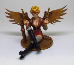 STEAMPUNK LADY STATUE DOUBLE GUNS FIGURINE - $34.64