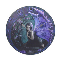 "Anne Stokes Naiad Fairy Evening Dragonfly Wall Clock Round Plate 13.5"" - $18.20"