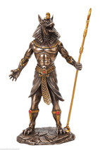 Modern Anubis Egyptian Statue Antique Color  Figurine God Of The Dead Fu... - $42.56