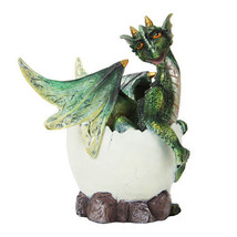 Baby Green Dragon Hatchling Egg Shell Statue Figurine Kamodo Statue - €16,16 EUR
