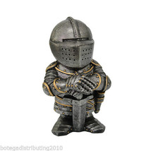 "Knight 4.5"" Swordsman Mini Collectible Statue Cute Crusader - €16,58 EUR"