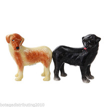 Labrador Ceramic Dog Magnetic Ceramic Salt and Pepper Shaker Set Perro S... - $12.99