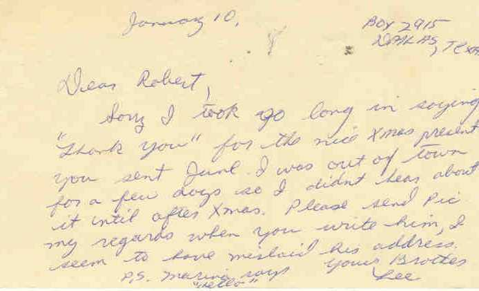 LEE HARVEY OSWALD Handwritten signed note (1963) to brother on govt. postcard