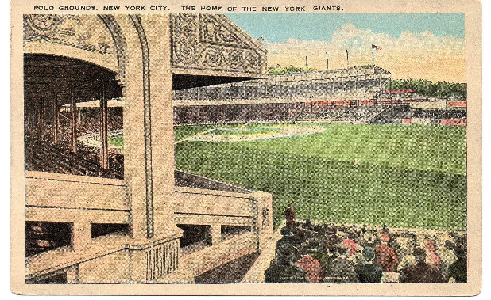 Primary image for POLO GROUNDS Postcard - uncommon, circa 1918