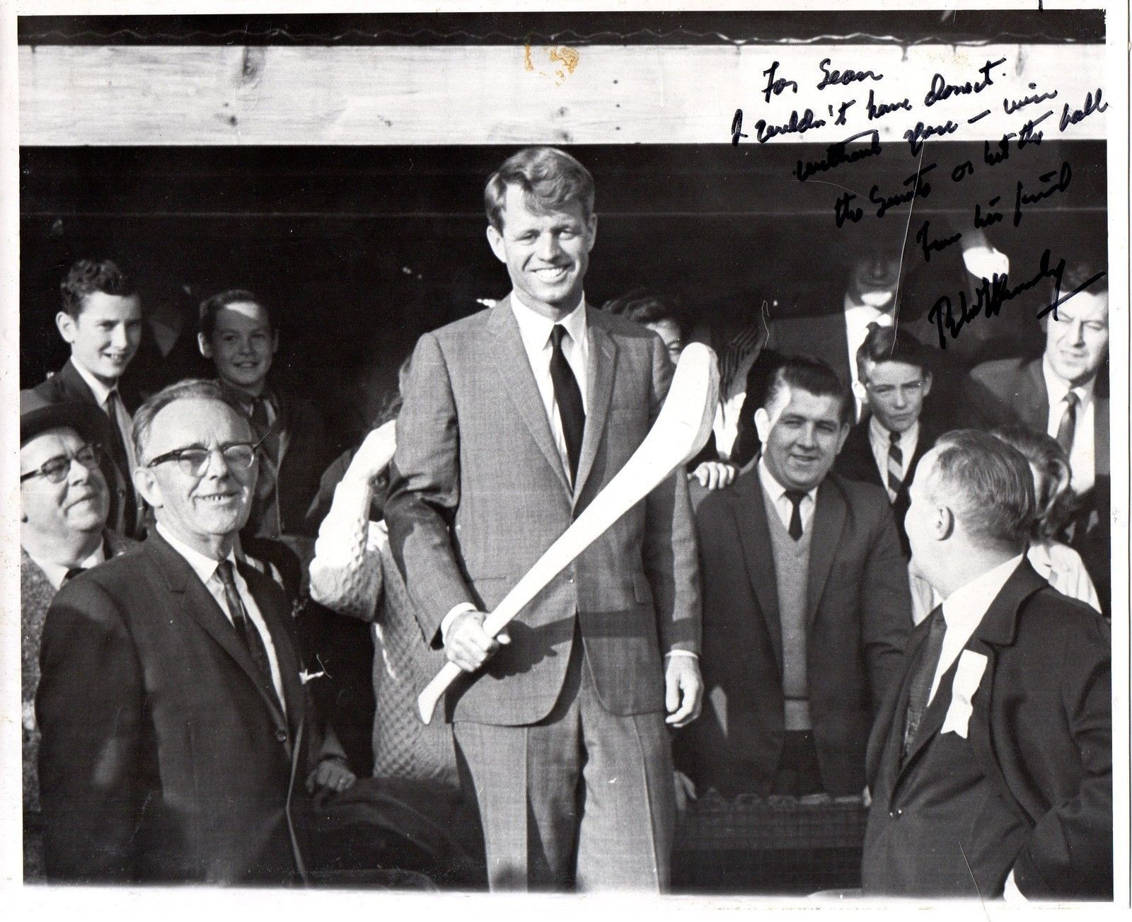 ROBERT F. KENNEDY Signed 8x10 photograph - possibly one of a kind photo