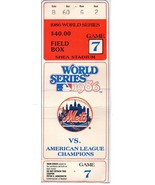 1986 WORLD SERIES GAME 7 STUB - New York Mets Shea Stadium - $272.25