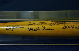 POLO GROUNDS BAT with 11 autographs - Mays, Irvin, Terry, Wilhelm, Duroc... - $1,188.00