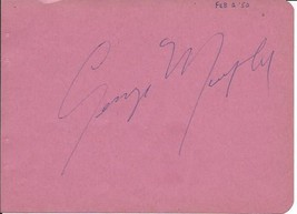 GEORGE MURPHY Signed autograph album page - $8.90
