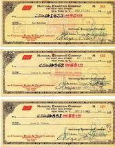 NEW YORK GIANTS 1953 Payroll checks, 14 different, Durocher, Wilhelm, St... - $1,831.50
