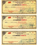 NEW YORK GIANTS 1953 Payroll checks, 14 different, Durocher, Wilhelm, St... - $1,831.50