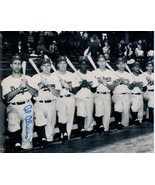 BROOKLYN DODGERS Signed photos-Eddie Basinski, Cal Abrams, Spider Jorgensen - $21.78