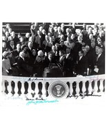 JOHN F. KENNEDY Inauguration Photo signed by Ea... - $1,138.50