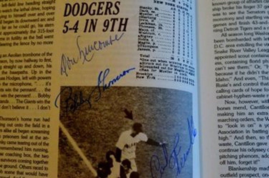 50 Greatest Baseball Games by Burt Sugar Hardcover book with 51 autographs