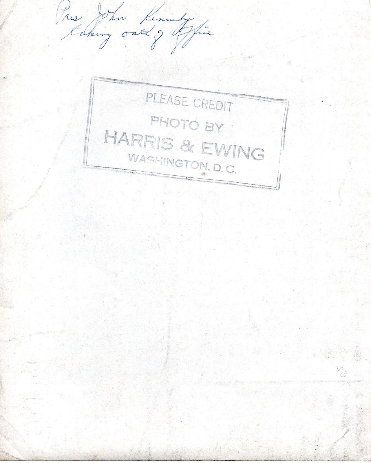 JOHN F. KENNEDY Inauguration Photo signed by Earl Warren, Wm. Douglas, Rusk +++