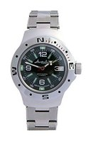 Vostok Amphibian Military Russian Diver Watch Black 2416 / 060640 - $74.21