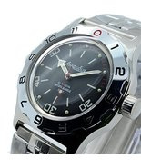 Vostok Amphibian New 100820 Russian Automatic Divers Wrist Watch 200m Auto Black - $80.28