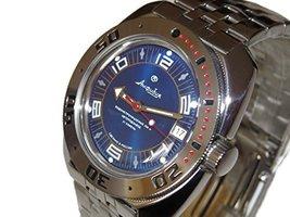 Vostok Amphibian 710406 /2416b Russian Military Watch Auto Divers 200m Scuba ... - $74.21