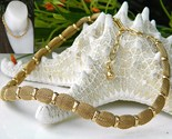 Vintage trifari mesh choker necklace crown hang tag goldtone thumb155 crop