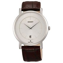 Orient FGW0100AW0 Stainless Steel Case Brown Calfskin Synthetic Sapphire Men'... - $141.15