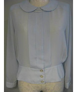 Josephine Pale Blue Semi-Sheer Blouse Size 18 New  - $17.00