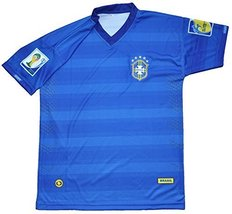 2014 Brasil Soccer Jersey Youth Size 16(For 11 to 13 years old) - $21.55