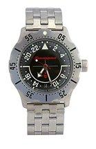 Vostok Komandirskie K-35 Russian Military Watch Black 2431 / 350617 - $80.61