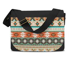 Earthy Aztec Tribal Geometric Messenger Bag - $41.99+