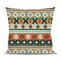 Earthy Aztec Tribal Geometric Fleece Cushion - $24.99 - $41.99